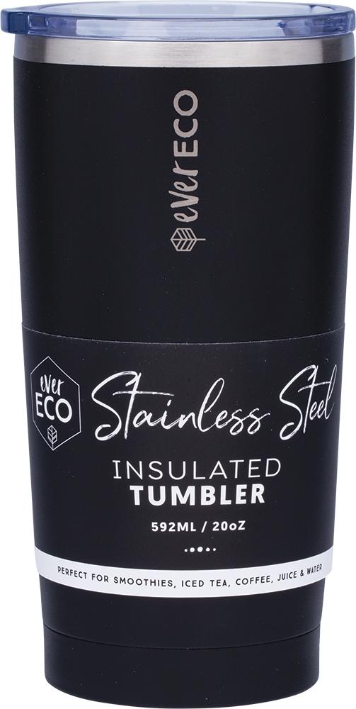 EverEco Onyx (Black) Insulated Tumbler 20oz