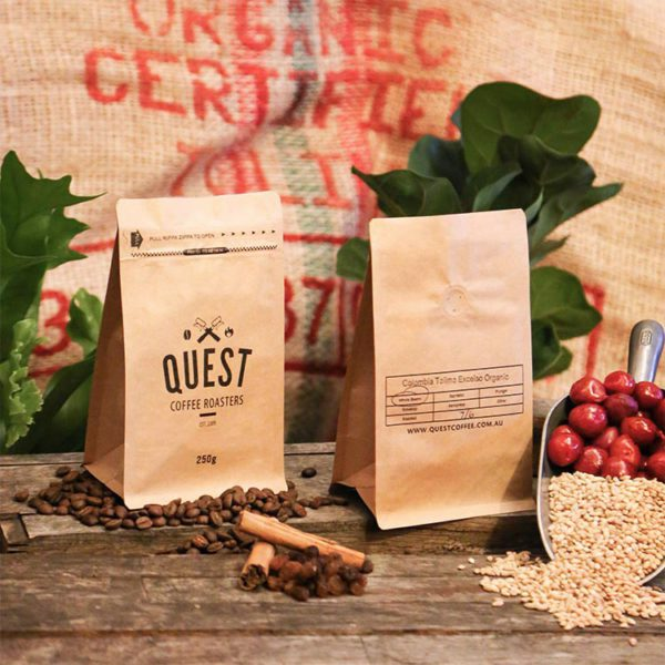 Quest's Colombia Excelso Tolima Organic SO - Medium-Dark Roast Coffee