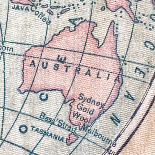 Australian coffee beans map