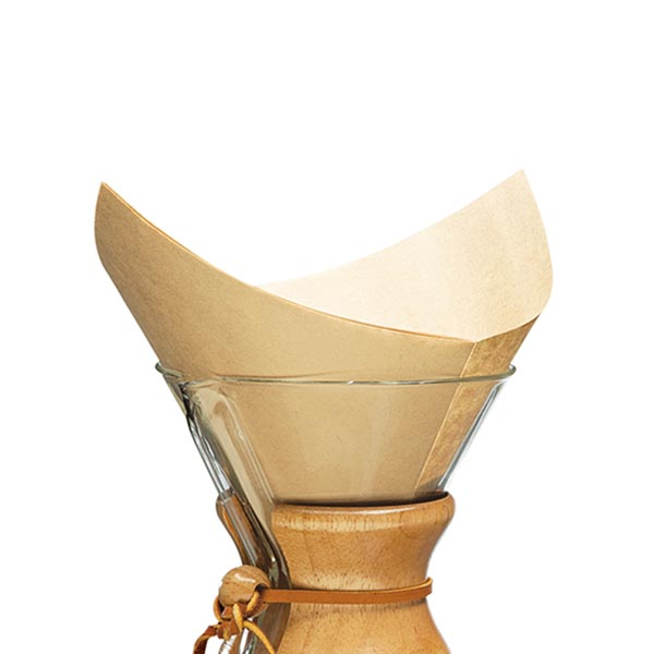 Chemex 6 cup filters - pre-folded - natural